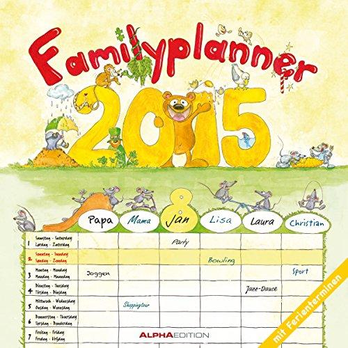 Familienplaner 2015 - Broschürenkalender (30 x 60 geöffnet) - mit 6 Spalten - mit Ferienterminen - Familientermine, Buch