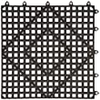Winco BML-12K Interlocking Bar Mat, 12 by 12-Inch, Dark Smoke by Winco USA