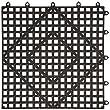 Winco BML-12K Interlocking Bar Mat, 12 by 12-Inch, Dark Smoke by Winco USA