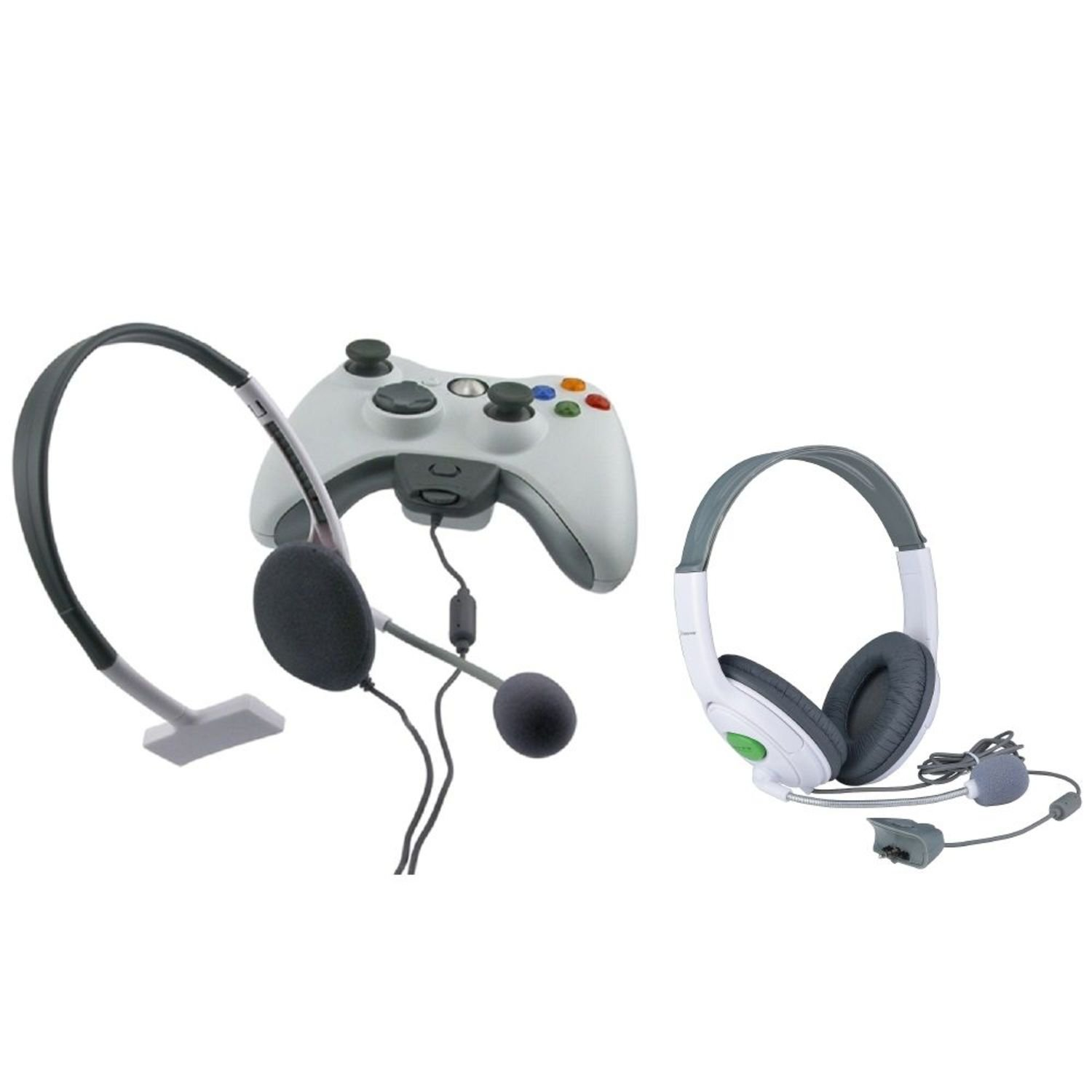 Insten® BIG+ SMALL LIVE HEADSET WITH MICROPHONE Compatible With XBOX 360 US
