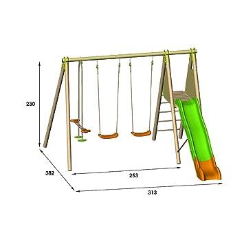offrir des rabais disponible haut fonctionnaire ᕆ Amca - Portique Bois/Métal de 2,30 m - TECHWOOD - TE608P4 ...