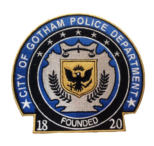 Large Dc Batman the Dark Knight Movie Gotham Police Patch(5''x4.5'') (Dark Knight Cowl compare prices)