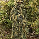 Red Rock Outdoor Gear Mens Ghillie Suit, Woodland Camouflage, Medium/Large