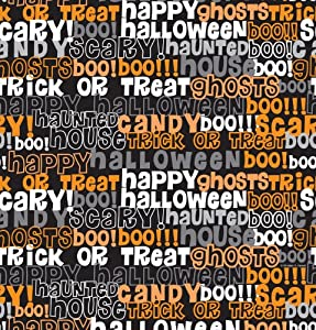 Creative Converting Halloween Tricks and Candy Plastic Banquet Table Cover