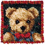 M C G Textiles Boy Bear Pillow Latch Hook Kits