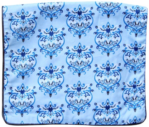 Caden Lane Luxe Collection Burp Set, Damask Blue, 2-Count