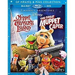 The Great Muppet Caper And Muppet Treasure Island:  Of Pirates & Pigs 2-Movie Collection [Blu-ray]