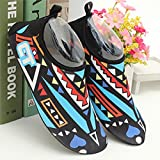 Happy Cherry Unisex Barefoot Water Skin Shoes Aqua Socks for Beach Fitness Running Yoga Exercise L - Blue