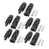 uxcell 5 Sets MC4 Solar Panel Connector Waterproof Cable Male Female Wire IP67