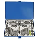 CSLU 39PCS Hardened Metric Tap and Die Bit Set, Screw Thread Taper Drill Tool Kit