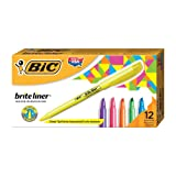 BIC Brite Liner Highlighter, Chisel Tip, Assorted Colors, 12-Count
