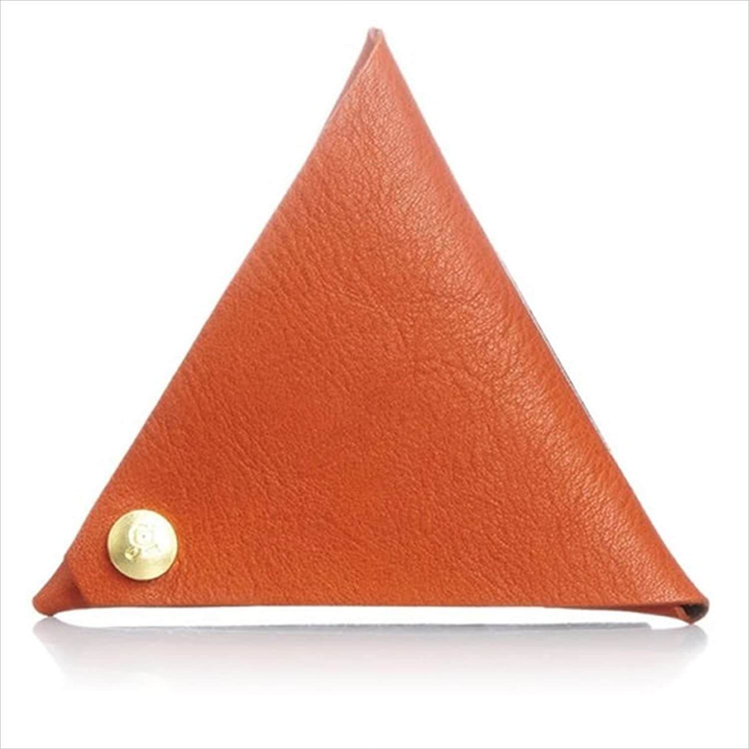 Made in Japan Leather@Coin Case Purse Pouch Wallet 1312 Orange•Dark Brown made in japan leather coin case purse pouch wallet 1312 orange•dark brown
