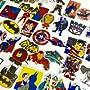 StickerFactory (Lot of 50) Best Assorted Superhero / Super Hero / Superheroes Vinyl Decal Stickers Pack - All Different Random Styles Best Assorted Superhero Themed Sticker Pack