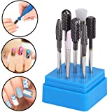 AORAEM Carbide Nail Drill Bits Set 7Pcs Acrylic Nail File Drill Bit For Nail Electric Drilling Machine Accessory Manicure Pedicure 3/32