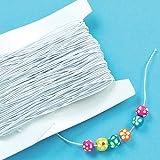 Weißes Gummiband - für Kinder zum Basteln für Perlenkunst und Schmuck - Spule mit 30 m hergestellt von Baker Ross