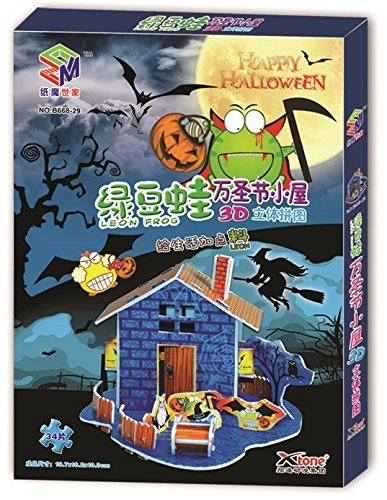Mung-Beans-Frog-Halloween-3D-Puzzle-34-Pieces