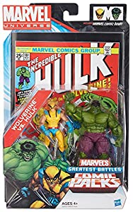 Marvel Universe Greatest Battles Action Figure 2Pack Wolverine Vs. Hulk