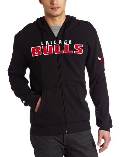 NBA Men's Chicago Bulls Gametime Full Zip Hood (Black, X-Large) at Amazon.com