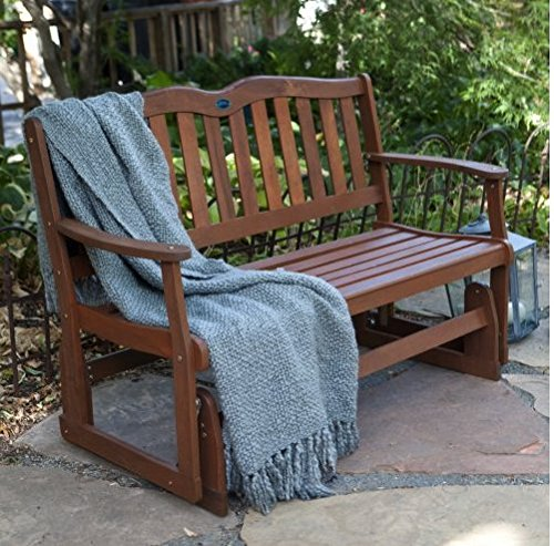 Outdoor Gliders Bench Furniture Swings Retro LoveSeat Patio Porch Picnic Wood Outdoors Lawn Garden Park Benches Wooden For Sale Outside Cheap Best Seating Natural 2