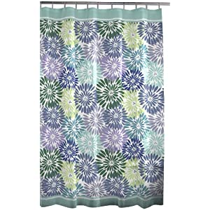 Maytex Mitzy PEVA Shower Curtain, Green