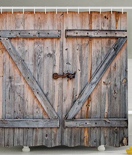 Country Decor Old Wooden Garage Door American Country Style