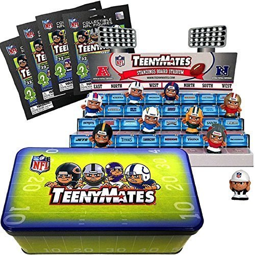 Party Animal Teenymates NFL Football Series 4 Collector Tin Mini Figures (Tiny Mates Football compare prices)