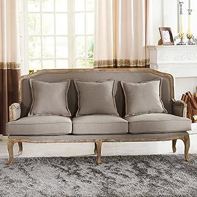 Baxton Studio Constanza Fabric Sofa