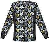 Cherokee Tooniforms Zip Front Side Panel Warm-Up Jackets-Assorted Prints