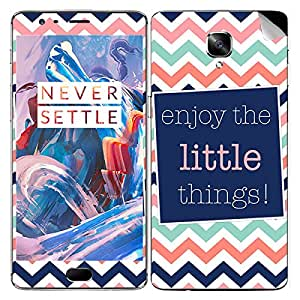 Theskinmantra Little things mobile SKIN/STICKER/DECAL for OnePlus 3/Oneplus Three/1+3
