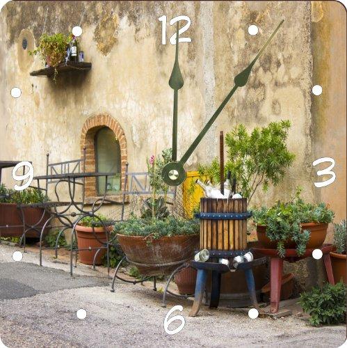 "Rikki Knighttm Cute Vintage Italian Street Design 8"" Art Wall Clock front-606255"