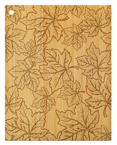 Totally Bamboo Laser-Etched Cutting and Serving Board, 14-Inch, Leaves (Bamboo Leaf Cheese Board compare prices)