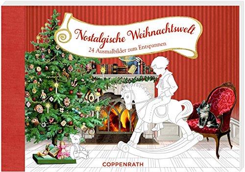 Kreativbuch nostalgische weihnachtswelt ausmalbilder