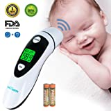 Baby Thermometer, Medical Forehead and Ear Thermometer/Infrared Digital Thermometer Suitable for Baby, Infant, Toddler, Kid and Adults with FDA and CE