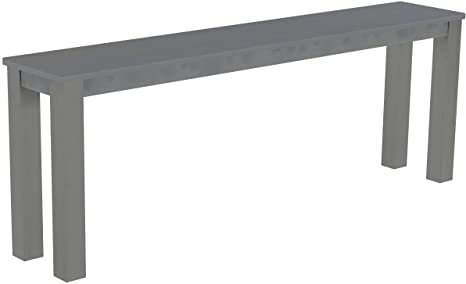 Brasil Meubles haut Banque 'Rio Classico' 208x 38cm, Pin massif, coloris gris soie
