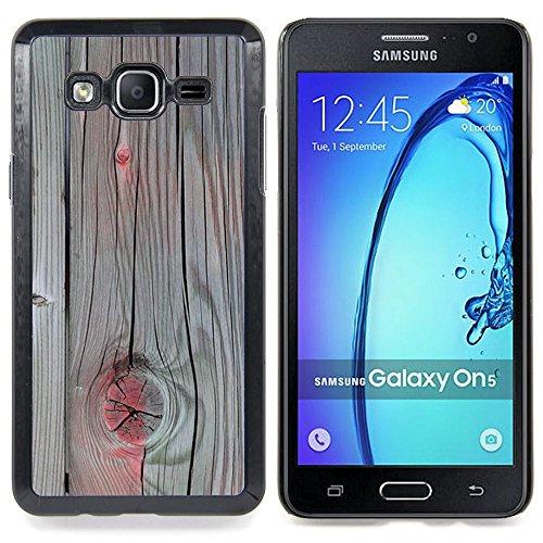 Accent Grey Wood Paint Cracked Custodia protettiva Progettato rigido in plastica King Case For Samsung Galaxy On5 SM-G550FY G550
