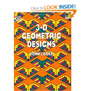 3-D Geometric Designs (Dover Design Coloring Books) John Locke, Coloring Books and Coloring Books for Grownups