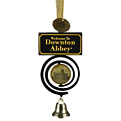 "Kurt Adler Downton Abbey ""Welcome to Downton Abbey"" Bell Pull Christmas Ornament"