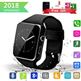 Smart Watch Upgrated Bluetooth Smartwatch with Camera Touchscreen,Smart Watches Unlocked Cell Phones with SIM Card Slot, Sport Wrist Watches for Android Samsung iOS iPhone Xs 6 7 8 Men Women Kids (Color: black smart watch android phones smartwat, Tamaño: 6 x 4 x 1.25cm smart watch android phones smartwat)