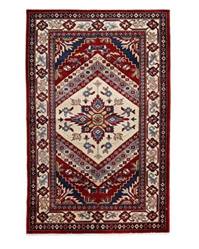 "Solo Rugs Fine Kazak Oriental Rug, Ivory, 3' 3"" x 5'"