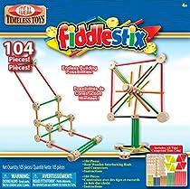 Ideal Fiddlestix 104 Piece Classic Wood Connector Set