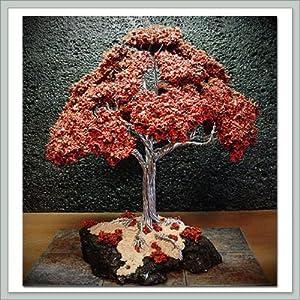 Joebonsai Wire Bonsai Tree by Dale Bartlett - Dark Red Oak