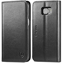 SHIELDON Galaxy S6 Edge Genuine Leather Case - Black