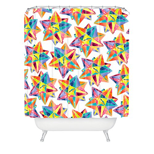 Deny Designs Cmykaren Star Power Shower Curtain front-482888