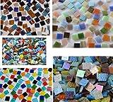 500 Stück Glas Mosaiksteine Bunt aus 5 versch. Artikeln a