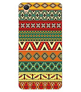 ColourCraft Tribal Pattern Design Back Case Cover for OPPO R9