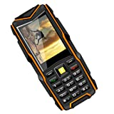 Baosity VKworld Stone V3 Telephone, 2.4inch Rugged Cell Phone Unlocked GSM Waterproof Shockproof Powerful Battery Flashlight IP68 Orange