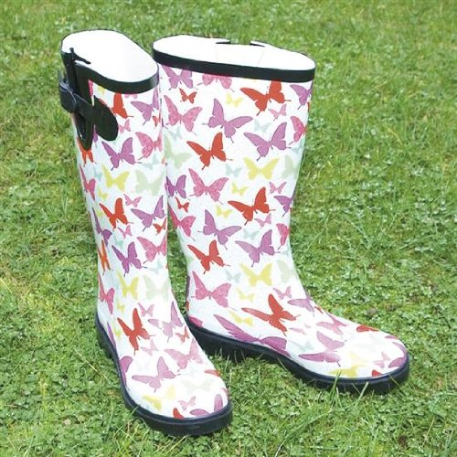Ladies Butterfly Funky Festival Wellies