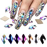 70Pcs Diamond Crystal Nail Rhinestone Gemstone Pearl 3D Nail Art Mobile Sewing Multicolor AB Crystal Bead Flash DIY