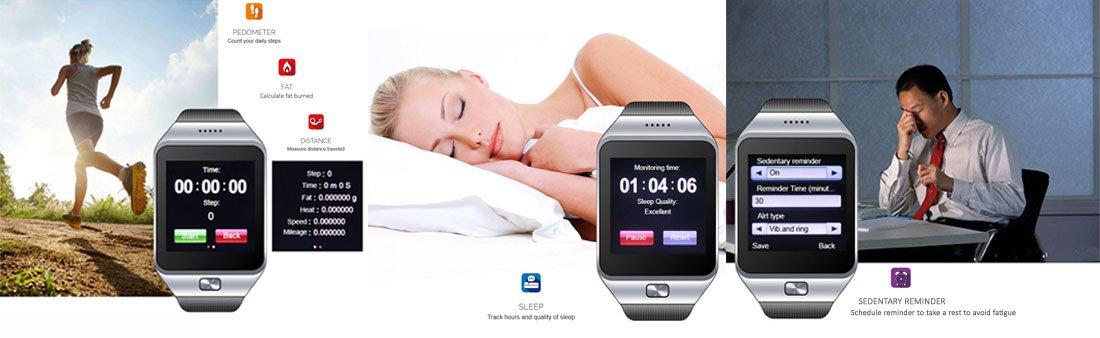 Indigi® Innovative SWAP Gear Bluetooth Smartwatch Wireless Phone For All iPhone and Galaxy SmartPhones (Silver) ipega pg 9077 bluetooth wireless gamepad