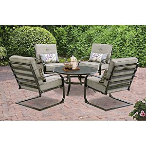 Mainstays Pyros 5-Piece Patio Conversation Set, Grey, Seats 4 by Mainstays
